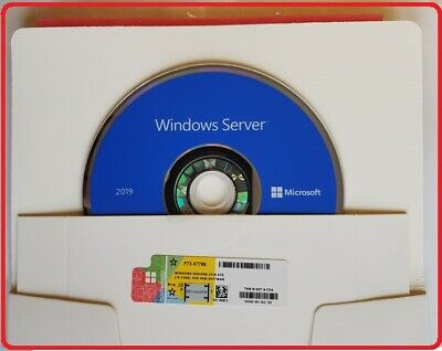 Microsoft Windows Server 2019 STANDARD 64BIT DVD/COA 2CPU 16CORES 2VM PACK