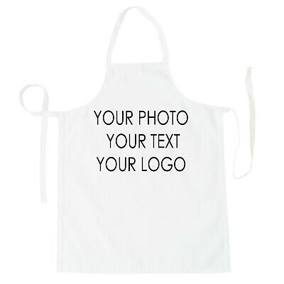 Personalised Custom Printed Apron IMAGE Cooking PHOTO Chef Business Logo Text