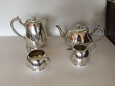 Lovely 4 Piece Silver Plated Tea/Coffee Service (Ref 0001) Walker & Hall