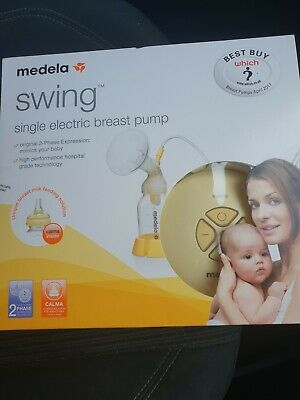 Medela Swing Single Electric Breast Pump with Calma brand new in box