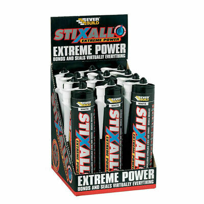 Everbuild Stixall Extreme power Sealant and Adhesive - Black 12 x 300ml