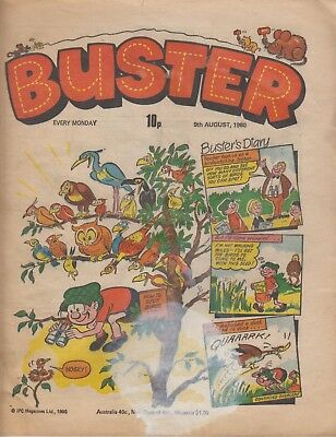 Comic. Buster. 9 August, 1980. In good condition.