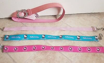 M&S HELLO KITTY BELTS (X4) Girls Belt Character Size 6-7-8 Years