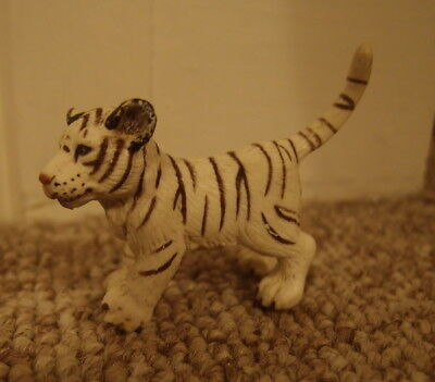 Schleich White Tiger Cub RETIRED Animal Figure Toy