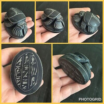 Rare post Medieval in the style of Luxor stone large scarab beetle