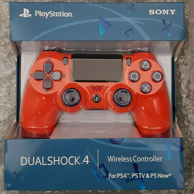 OFFICIAL SONY PS4 DUALSHOCK 4 WIRELESS CONTROLLER - NEW & SEALED (Sunset Orange)