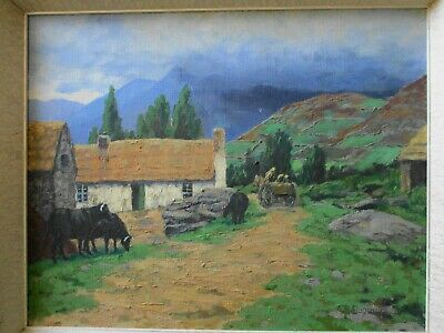 Irish Painting Ireland A Kerry Cottage A.r.dugmore Original