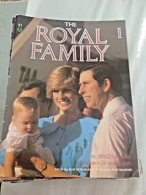 Full set of 24 weekly parts of The Royal Family. 1984. Orbis.