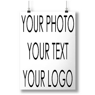 Personalised Custom Customised  BRAND NEW A0 A1 A2 A3 A4 Photo Poster a3737h