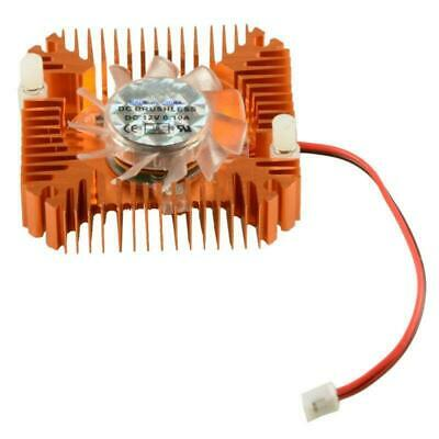 12V 2Pin 55mm Low Noise VGA Video Card Cooling Fan Copper Plated CPU Heatsink