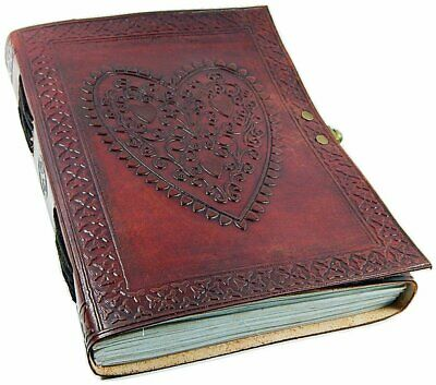 Large Vintage Heart Embossed Leather Journal/Instagram Cotton Paper Notebook