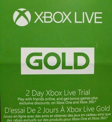 Xbox Live 2 Day (48hr) Trial