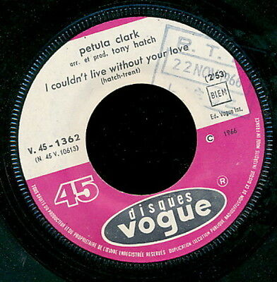 Petula Clark 45 Tours France I Could't Live Without Your Love