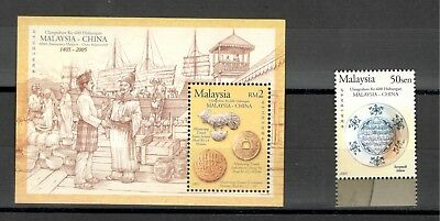 Malaysia Unissued 2005 Trade Between China Ms And Stamp Mnh Hcv