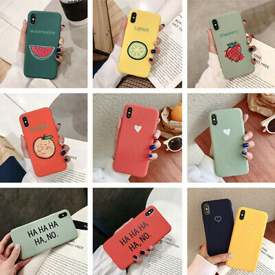 For iPhone XS Max XR X 8 7 6s+ Cute Pattern Slim Soft Silicone Rubber Case Cover