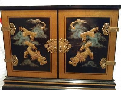 1054----Vintage Asian style cabinet - PICK UP ONLY