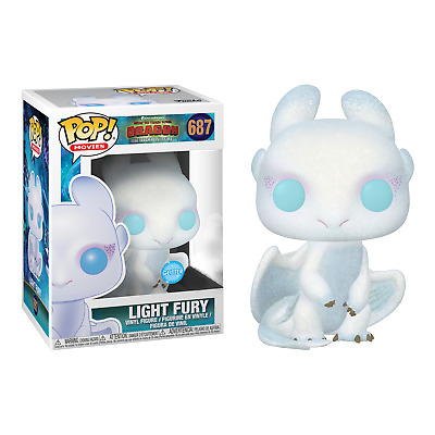 FUNKO POP!How To Train Your Dragon 3 The Hidden World Light Fury GLITTER Limited