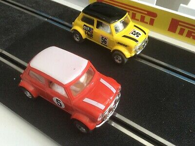 SCALEXTRIC - Mini Cooper Yellow Bose & Red #5 1/32 scale Slotcars