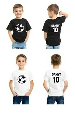 8bc78fd25 Personalised Kids Football T-shirt With Name And Number Boys Soccer Team