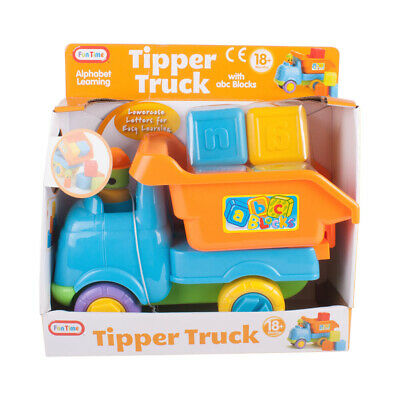 Alphabet Learning Tipper Truck with ABC Blocks 18 Months+