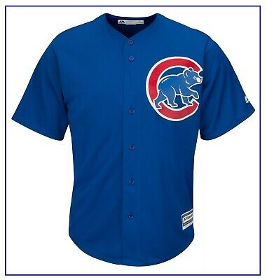 Royal Chicago Cubs Cool Base Jersey by Majestic LARGE Sz BNWT