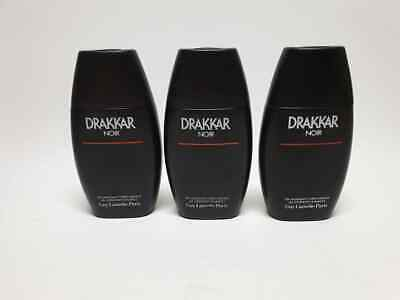 Guy Laroche Drakkar Noir Gel Moussant Corps-Cheveux 3 x 200 ml New & Rare