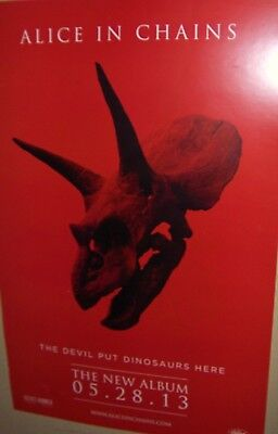 ALICE IN CHAINS The DEVIL Put DINOSAURS Here Original DS Promo Poster 2013 COOL