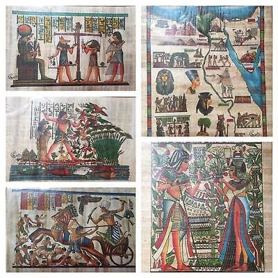 25 Egyptian Painting Papyrus Paper Authentic Book Of The Dead Anubis art/history