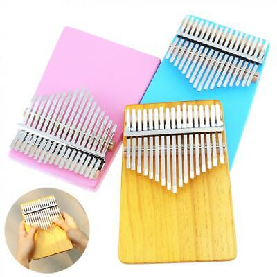 New 17 Key Kalimba Single Board Solid Pine Thumb Finger Piano Mbira Play Musical