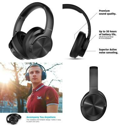E9 Wireless Active Noise Cancelling Headphones Dual 40mm Drivers Bluetooth CSR C
