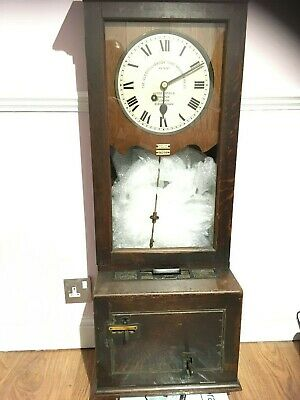 Vintage Gledhill Brook Clocking In Factory Time Recorder