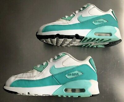 Nike Air Max 90 LTR WhiteHyper Turquoise Clear Jade Black (GS)
