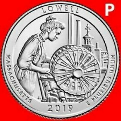 2019 P    Brilliant Uncirculated    Lowell Mass.   America The Beautiful