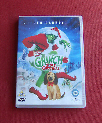 Dr Seuss' How The Grinch Stole Christmas - Region 2 DVD - Jim Carrey, Ron Howard