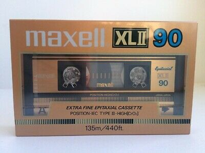 Maxell Xl Ii 90 Blank Audio Cassette Tape New Rare 1985 Year Japan Made