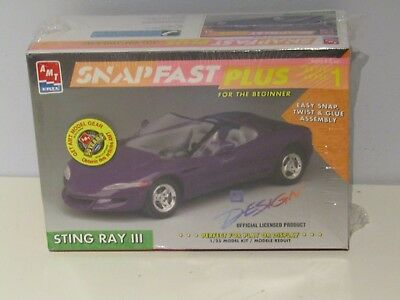 1997 AMT/ERTL Sting Ray III Snap fast Plus Model Kit, NEW !! and Sealed!! #8309