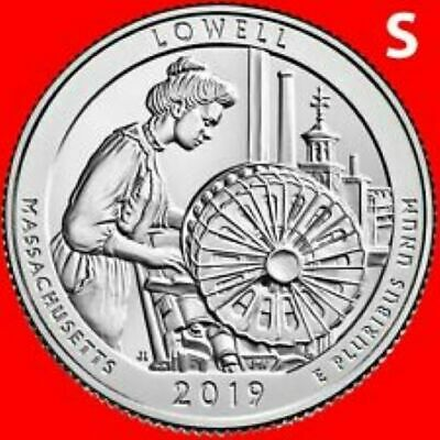 2019  S    Brilliant Uncirculated    Lowell Mass.   America The Beautiful
