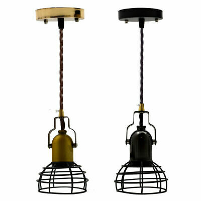Vintage Industrial Style Metal Wire Small Cage Ceiling Pendant Light Lamp Shades