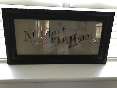 Antique Framed Picture Of No Place Like Home