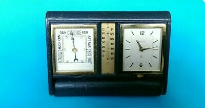 Jaeger Lecoultre 8 Day Clock .Alarm.barometer. Thermometer (Missing)Blue Lizard.