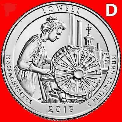 2019 D    Brilliant Uncirculated    Lowell Mass.   America The Beautiful