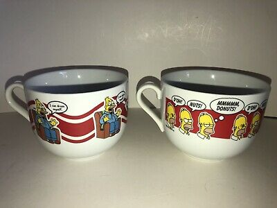 Die Simpsons Set mit 2 Jumbo Kaffee Suppe Becher Homer Großvater I Can Kleid