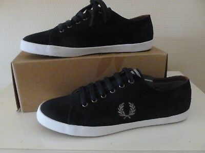 8401812db2 Chaussures Baskets Fred Perry homme Kingston Suede taille 41 cuir Bleu  marine