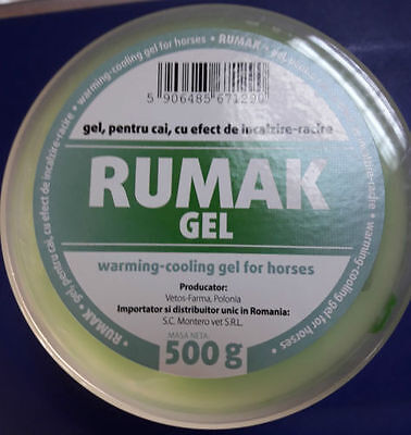 RUMAK gel 500 g heating effect - cooling and relaxation with natural ingredients