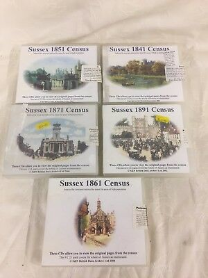 Sussex Census CDs - 1841, 1851, 1861, 1871 and 1891 - Family History