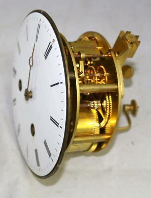 Antique French 8 Day Clock Striking Movement And Dial Clock Parts Spares