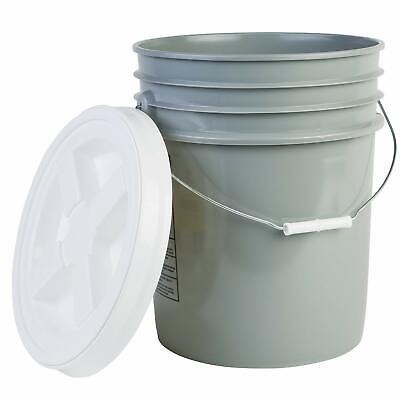 Hudson Exchange Premium 5 Gallon Bucket with Gamma Seal Lid, HDPE, Gray