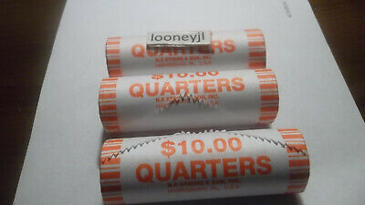 5 Rolls of 2019 Quarter Roll Lowell National Park BU  NF String & Sons