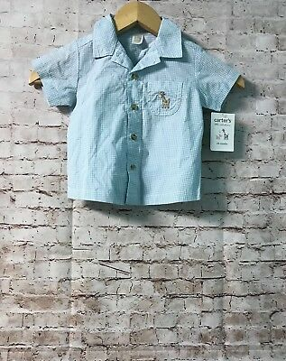 Carters Baby Boy Shirt Size 24 Months Gingham Plaid NEW C889