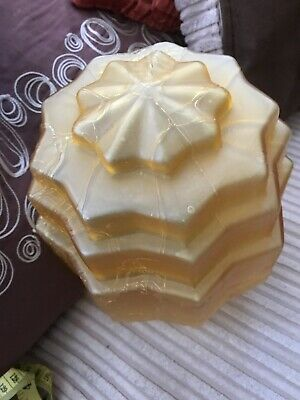 Beautiful Frosted Amber Art Deco Light Shade